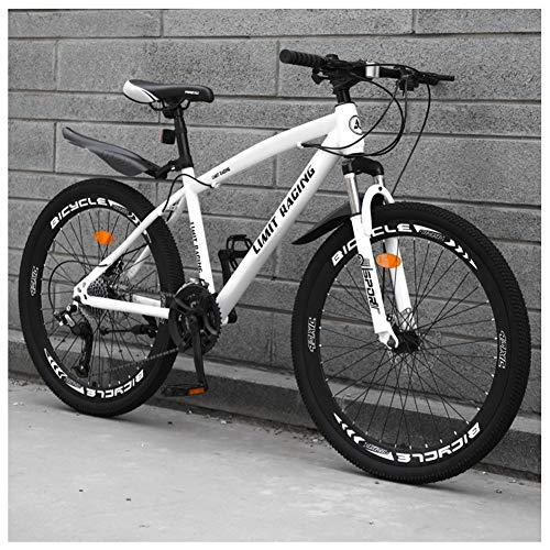 COSCANA Bicicleta De Montaña con Suspensión Delantera De Cuadro De 17', MTB De 21-27 Velocidades, Frenos De Disco Doble Bicicleta De Montaña para Hombres, Mujeres Y AdultosWhith-21 Speed