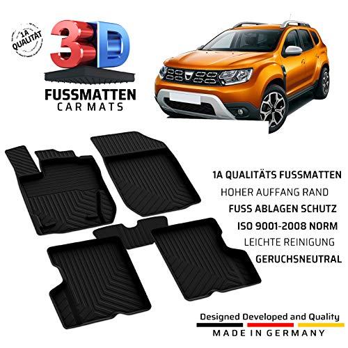 fussmattenprofi.com Auto Gummifußmatten Passend für Dacia Duster (2.Gen) Baujahr ab 2018