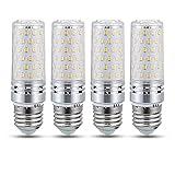 Bombilla LED E27 16W Luz Fria 6000K, 1600LM, Equivalente Lámpara Halógena 100W 120W, Ángulo 360, AC 230V, No Regulable, Edison LED E27 Maiz Blanco Frio para Lámpara de Techo, pack de 4
