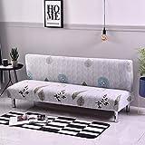 Funda para sofá de futón, elástica, sin brazos, antideslizante, elástica, plegable, para sofá cama plegable (hojas,...