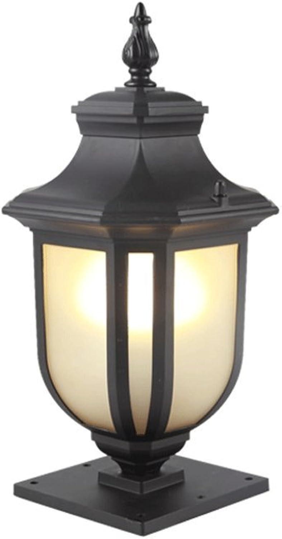 Modeen Europische Landschaft Gartenleuchten Auen Spalte Lampe Tischlampe Tradition Antike Victoria Wasserdichte Glas Spalte Licht Garten Rasen Lampe E27 Dekoration Beleuchtung (Gre   S)