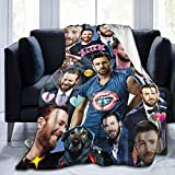 MOMOS Chris Evans Blanket Soft Cozy Throw Blanket Flannel Blankets for Couch Bed Living Room 50X40 Inch