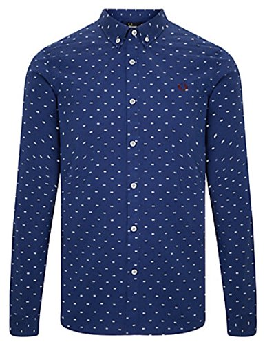 Fred Perry - Camicia Casual - Uomo blu XX-Large