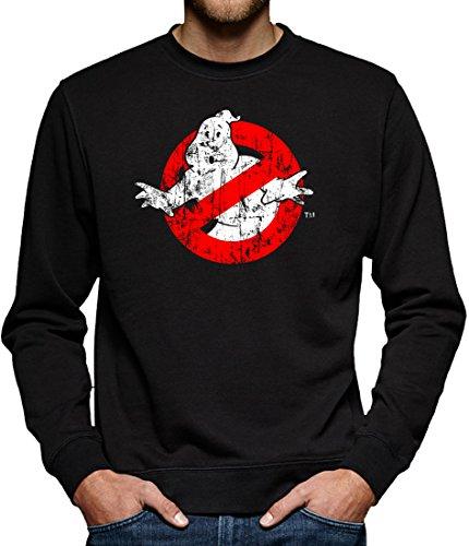 Ghostbusters Distressed Sweatshirt Pullover Herren L Schwarz