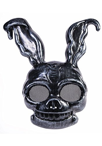 Dark Frank The Creepy Black Rabbit PVC Half Mask Bunny Animal Costume Accessory