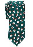 Retreez Herren Schmale Gewebte Weihnachten Krawatte Weihnachtsmann 6 cm - grün, Weihnachtsgeschenk