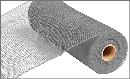 10 inch x 30 feet Deco Poly Mesh Ribbon - Value Mesh (Grey)