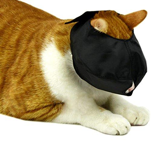 Alfie Pet - Spike Adjustable Quick Fit Nylon Muzzle for Cat - Color: Black, Size: Large