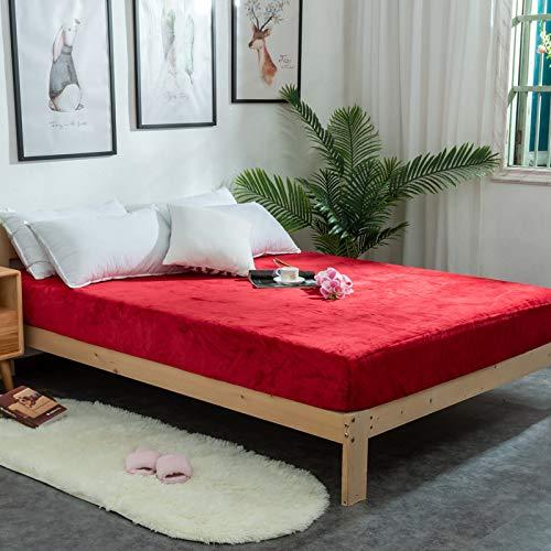 HIABA - Lenzuolo con angoli in flanella di cotone spazzolato, extra profondo, per letto singolo, matrimoniale, super king size, 200 x 220 cm + 25 cm