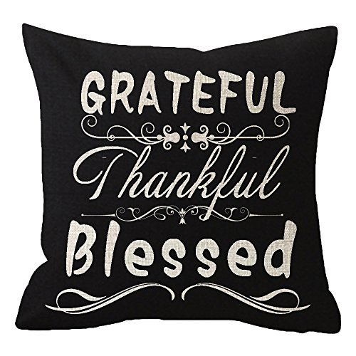 Top thankful grateful blessed pillow cover for 2020