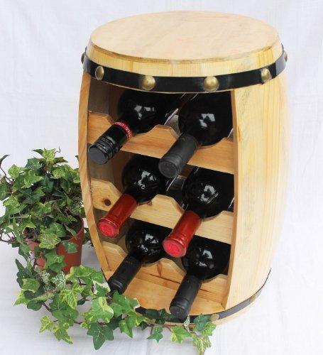 DanDiBo Scaffale-Vini Botte-Vini Botte In Legno Alt.42Cm Nr.1511 Porta-Bottiglie Scaffale Verniciatura Naturale