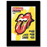 - The Rolling Stones - No Filter UK Dates - つや消しマウントマガジンプロモーションアートワーク、ブラックマウント Matted Mounted Magazine Promotional Artwork on a Black Mount