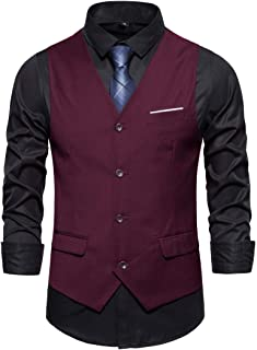 Vest Men's Casual Fashion Solid Color Buttons Base Waistcoat Spring and Autumn New Casual Business Slim Temperament Men's ...