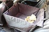 Lenezaro Cubierta de asiento de coche Perro Hamaca impermeable Cubierta de asiento Cubierta de asiento Coche Antideslizante Impermeable para Transporter Pois