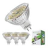 GU5.3 LED Lampen UBITREE MR16 Warmweiß Led Mit Qualitätsglaslampenschale 400Lumen/5W(Ersetzt 35W Halogen Lampen) / 2800K/ 12V AV/DC 120º Abstrahlwinkel 4 Stück