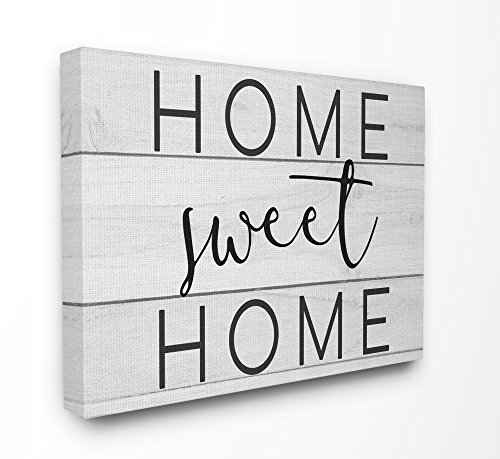 The Stupell Home Decor Collection Sweet Home Planks Lienzo decorativo para pared, lona, multicolor, 30 x 40