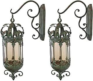 Design Toscano Crown Royale Hanging Pendant Lantern (Set of 2)