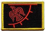 Flaggenfritze Flaggen Aufnäher Wikinger Odinicraven Fahne Patch + gratis Aufkleber