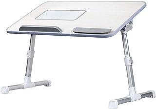 Abilieauty Ajustable Portátil Mesa con Ventilador de Refrigeración Portátil de Pie Cama Escritorio Plegable Sofá Desayuno Bandeja
