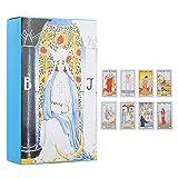 Juego de cartas de tarot, baraja de cartas de tarot de rider ruso con caja colorida, 78 cartas de tarot para principiantes y lectores expertos, tarjeta de juego de mesa para la fiesta de amigos(#1)