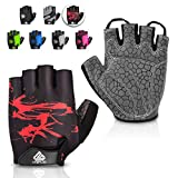 HTZPLOO Bike Gloves Cycling Gloves Mountain Bike Gloves for Men with Anti-slip Shock-absorbing...