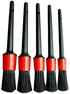 5PCS Car Detailing Brush for Cleaning Wheels Auto Detail Brush Set Boar Hair Automotive Detail Brushes Kit for Cleaning Ca...