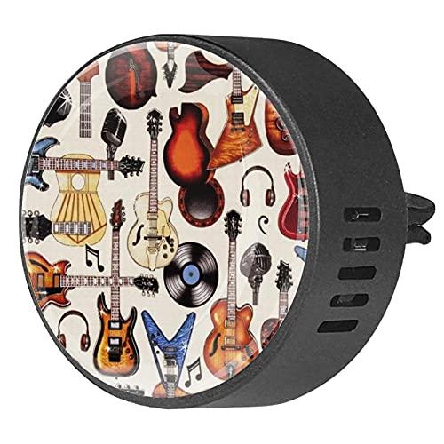 2 paquetes de difusor de coche con ambientadores de clip,Guitarras eléctricas ,Aceite esencial de aromaterapia portátil para dormitorio