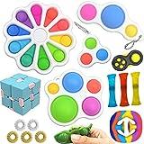 SUPRBIRD Simple dimple Fidget Toys Pop it Set Antistress Giocattolo per Bambini...