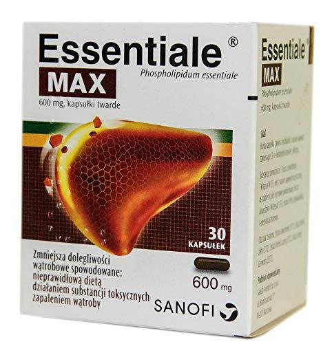 Essentiale Max, 600 mg, Hartkapseln, 30 Stk. Beschleunigung und Schutz der Regeneration von Leberzellen