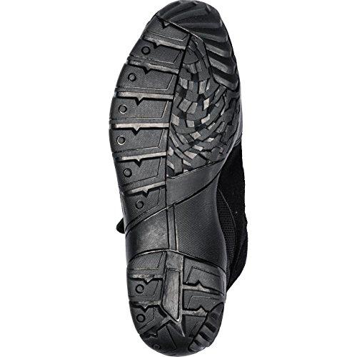 Motorradstiefel Firefox Sport Schuh kurz 1.0, Motorradschuhe Männer & Damen, Schaltverstärkung, atmungsaktives Innenfutter, bequeme Leichtlaufsohle, Klettriegel zur Schnürsenkelfixierung, schwarz, 42 - 5