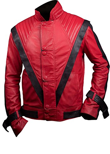 Leatherly Giacca Uomo Michael Jackson Thriller Sintetico Pelle Giacca- XS