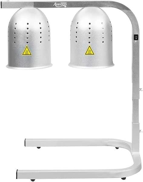 Avantco 商用便携式 W62 加热灯食物加热器 2 灯泡独立式