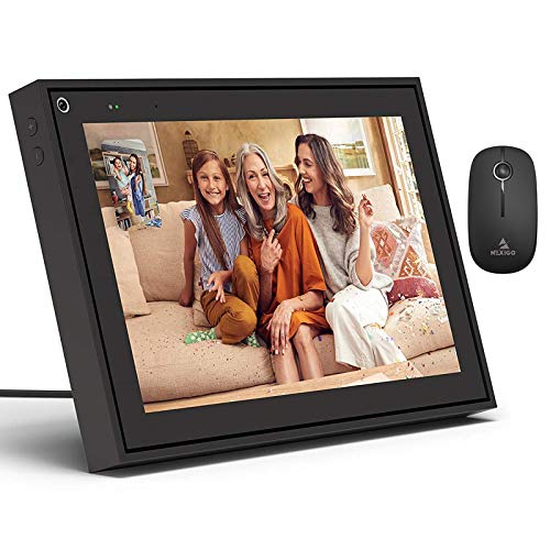 Facebook Portal Holiday Bundle, Digital Picture Frame, Smart Video Calling 10 Inch Touch Screen Display with Alexa, Black+ NexiGo Wireless Mouse Bundle Graphics Tablets