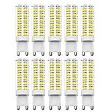 Ampoule LED G9, RANBOO, 7W, 60W Ampoule Halogène Équivalent, Blanc Froid 6000K, Ampoule LED, 220-240V AC, 450lm, 360° Larges Faisceaux, Culot G9, Lot de 10