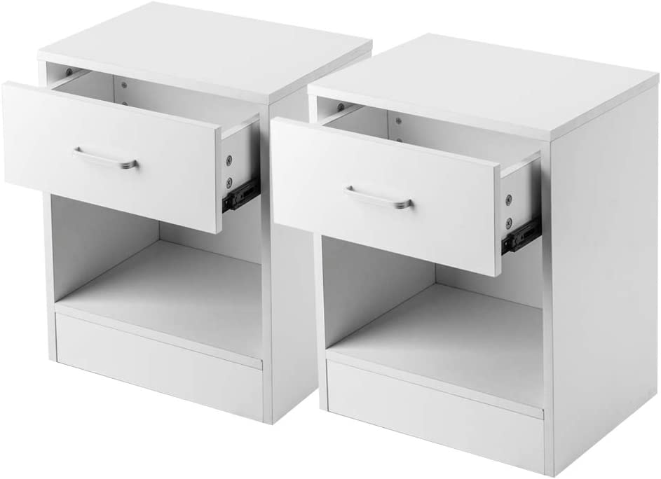 Bedroom Nightstands - Set of 2 Night and Drawers Sto Stands 5 ☆ very popular Popular popular with