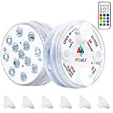 Homly Pool Led Light with Remote RF and Suction Cups Magnetic Pool Lights for Above Ground Pools Inground Pool Underwater Lights Waterproof Led Shower Lights Hot Tub Lights Color Changing (2 Packs)