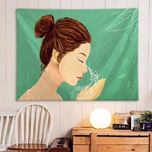 Hermosa niña tapiz tapices para colgar en la pared pared para decoración del hogar sala de estar dormitorio 150X200CM