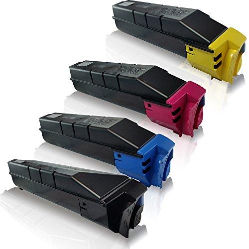 4x kompatible Tonerkartuschen für Copystar CS3050CI CS3550CI Kyocera TASKalfa 3050CI 3050CIG 3051CI Black Cyan Magenta Yellow Sparset - Eco Office Serie