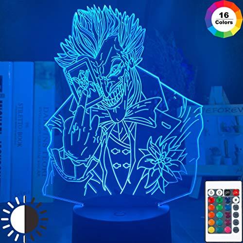 Marvel Joker Poker Figure Boyfriend Night Light Lampada da tavolo a LED 3D per bambini Decorazione regalo per camera da letto per bambini regalo di compleanno