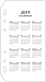 2019カレンダーハンドブックルースリーフノートブック月インデックスページ区切りページPVCマットスクラブ標準6穴 (サイズ : A6)