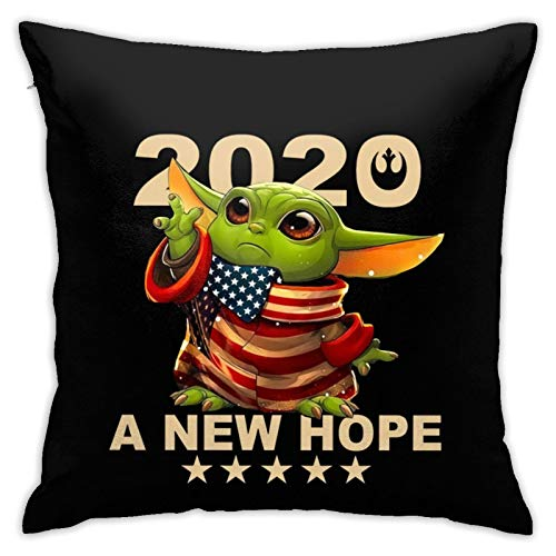 NiYoung Baby-Yoga A New Hope 2020 Square Throw Pillowcase Invisible Zipper, Home Decor Couch Cushion Cover, Bed Sofa Office Chair Car Seat Cushion Case - 18' X 18' Cushion Covers