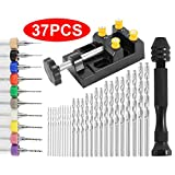 37pcs Pin Vise Hand Drill Set Include Pin Vise Hand Drill, 0.3-1.2mm PCB