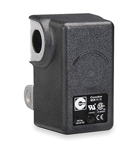 Condor USA, INC Air Compressor Pressure Switch; Range: 25 to 160 psi, Port Type: (4) Port, 1/4' FNPT