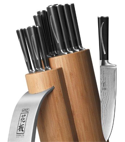 Big Sale Best Cheap Deals Ginsu Hanaita Series 33 Layer Japanese VG-1 Core Damascus Stainless Steel 15 Piece Cutlery Set 5900