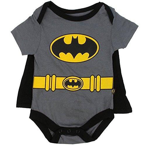 Batman Infant Baby Boys 'Creeper Onesie Bodysuit Snapsuit' With Cape...