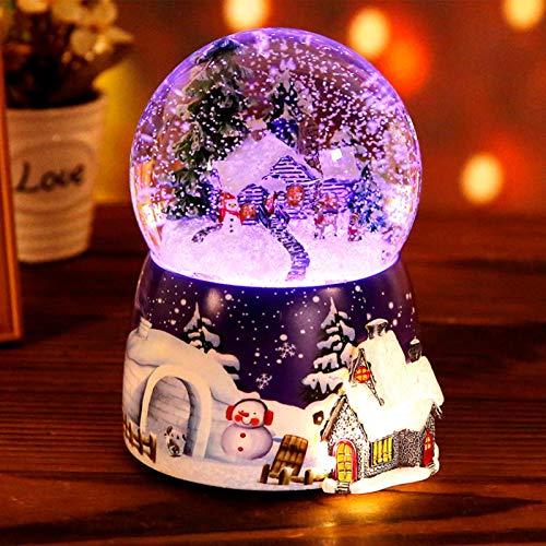 Caja De Música De Bola De Cristal De Navidad, Caja De Música...
