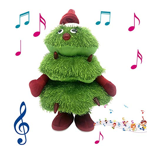 vividen Christmas Tree Electric Dancing Singing Plush Toys Christmas Doll Holiday Home Xmas Ornaments Christmas Tree Ornaments Christmas Tree Decoration Gifts for Kids (Green)