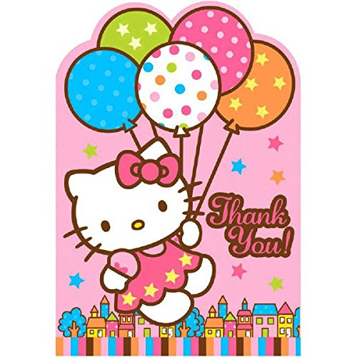 Hello Kitty Thank You Cards (Pack of 8)