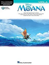 Moana Instrumental Solos - Best Play Along Beginner Music Books for Viola