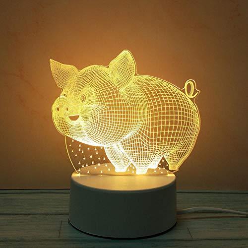Nachtlicht 3d gemütliche Schlafzimmerstudie schlafen Nachttischlampe-3D Schwein nachtlicht steckdose bewegungsmelder nachtlicht steckdose